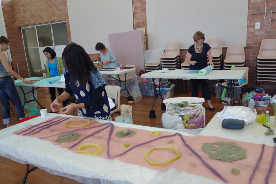 Alison's Nuno Felt Workshop
