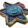 Prudence - spiral star brooch